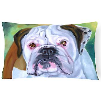Carolines Treasures  7350PW1216 Miss English Bulldog Fabric Decorative Pillow