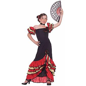 Flamenco spanische Tänzerin lateinischen Spanien Senorita Rumba Buch Woche Mädchen Kostüm