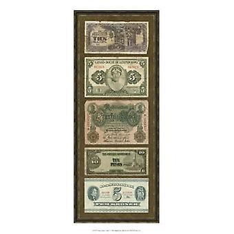 Иностранной валюты группа I плакат печати Vision studio (9 x 21)