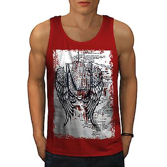 Flügel Urban Cool Fashion Men RedTank Top | Wellcoda