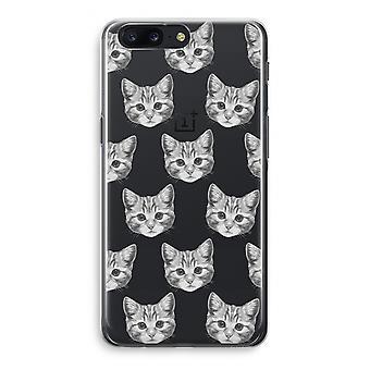 OnePlus 5 Transparant Case (Soft) - Kitten
