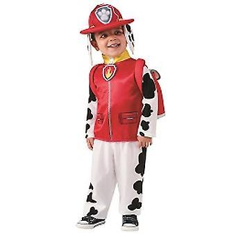 Μάρσαλ πόδι περιπολία Δαλματίας διάσωσης σκύλος πυροσβεστική στολή παιδιά στολές