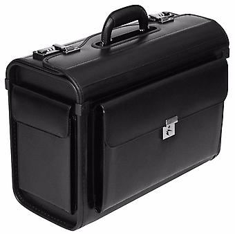 Leather Pilot Case Briefcase Flight Bag Hand Luggage Business 16