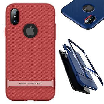 Original ROCK silicone hybrid case bag black / red for Apple iPhone X / XS