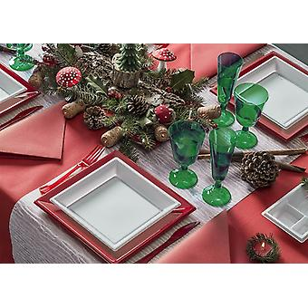 Party tableware set for 6 guests 73-teilig party package red white party package