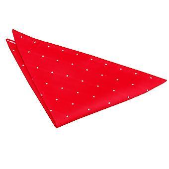 Röd Pin Dot Pocket Square