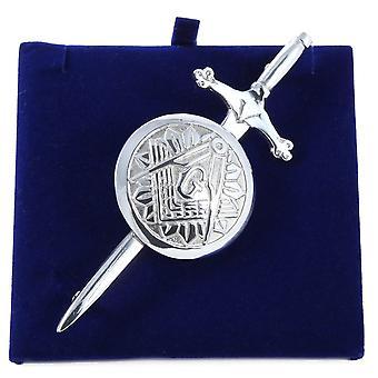 Masonic Pewter Kilt Pin