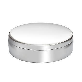 Caixa de estanho Trinket 10Cm redondo liso