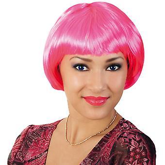 Περούκα για πάρτι γάτες ροζ Bob πόνυ κοντό