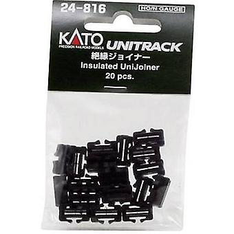 7078508 N Kato Unitrack Track connector, Insulated
