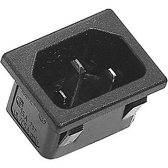 K & B 42R023212150 IEC connector 42R Series (mains connectors) 42R Plug, vertical mount Total number of pins: 2 + PE 10 A Black 1 pc(s)