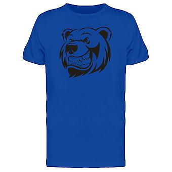 Grizzly Bear Menacing Smile Tee Men's -Image by Shutterstock