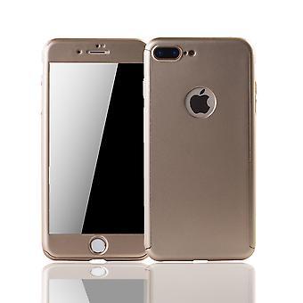 Apple iPhone 7 Plus telefon fall skydd mål täck tankskydd Glas Guld