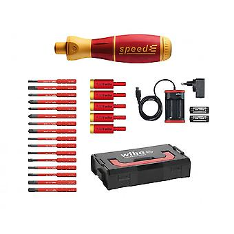 Wiha Tools Speed E-Screwdriver Electric Insulated Screwdriver Kit, 26Pc