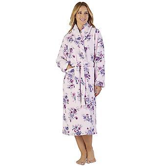 Slenderella HC2313 ženy ' s Coral fleece kvetinové rúcho loungewear kúpeľňové šaty