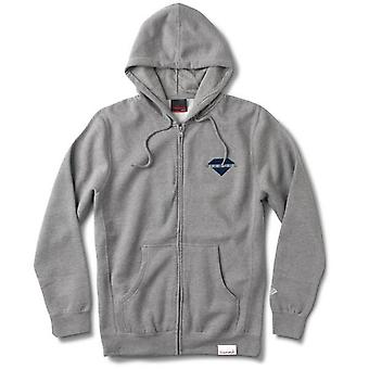 Diamond Supply Co Viewpoint Zip Hoodie Heather Grey