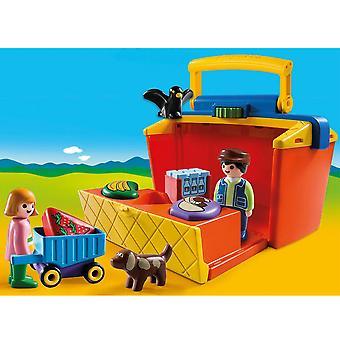 Playmobil 9123 1.2.3 fog mentén piac istállóban tart