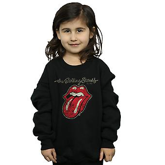 Rolling Stones Girls Plastered Tongue Sweatshirt