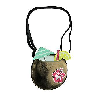 Cute Tropical Coconut Drink Small Crossbody Purse