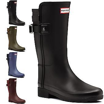 Dame Hunter Original raffineret tilbage rem kort Wellington sne regn Boot
