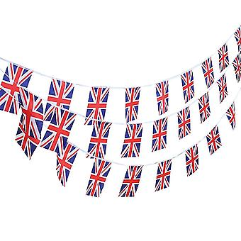 14PC Union Jack drapeau rectangulaire Bunting Garland pour célébrations nationales TRIXES