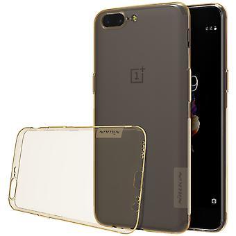 NILLKIN OnePlus 5 natuur serie 0,6 mm TPU-goud