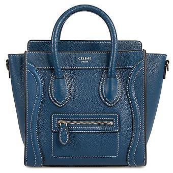 Celine Nano bagage Navy kalveskind lædertaske