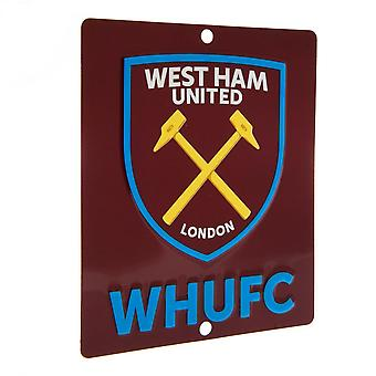 West Ham United FC Official SQ Window Sign