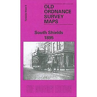 South Shields 1895: Tyneside blad 9 (gamla Ordnance Survey kartor av Tyneside)