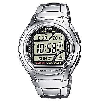 Casio digital watch quartz women's watch with stainless steel band WV-58DE-1av
