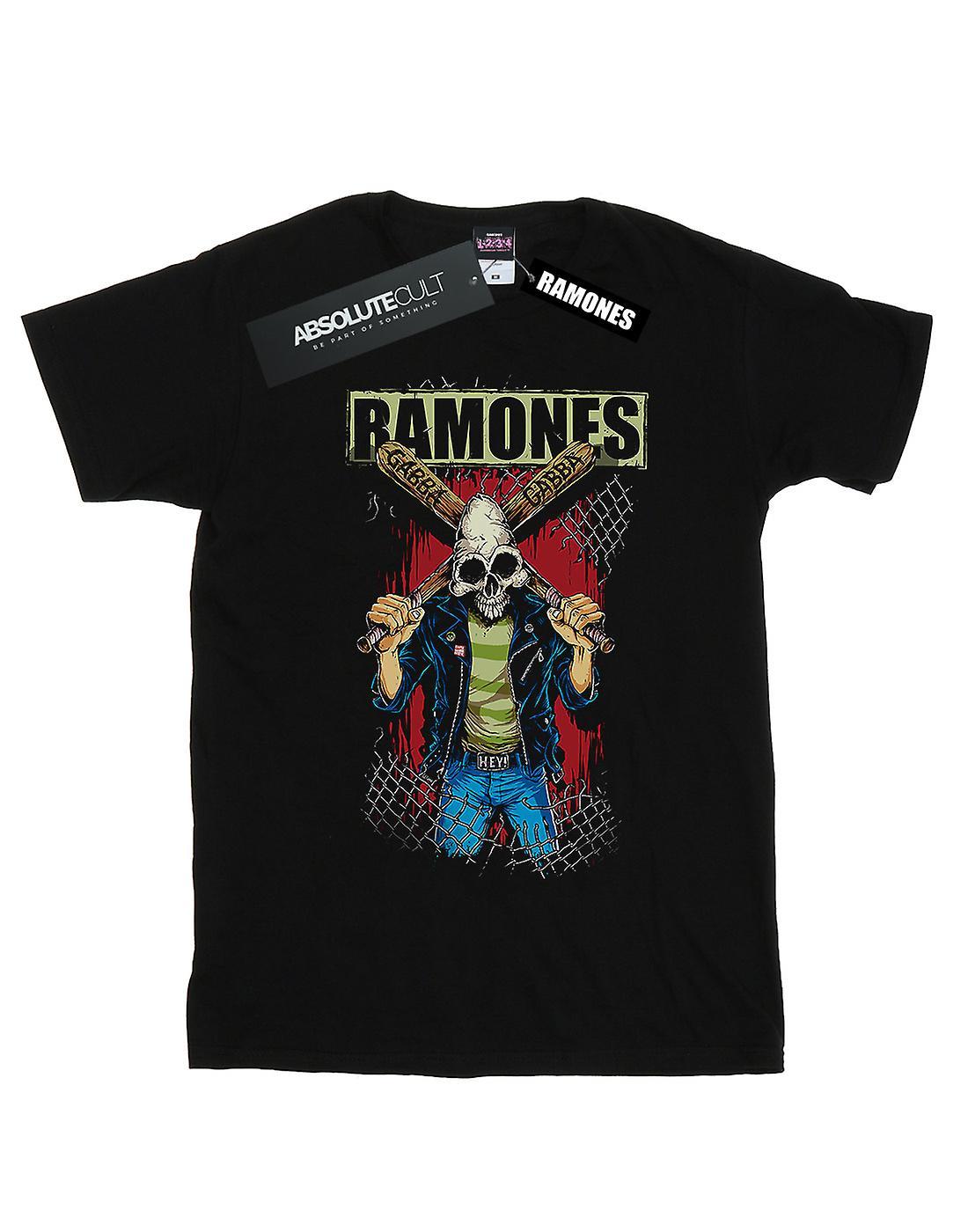Ramones Women's Gabba Gabba Hey Pinhead Boyfriend Fit T-Shirt