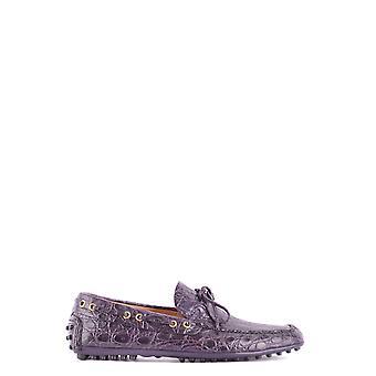 Car Shoe Ezbc029026 Men's Purple Leather Loafers