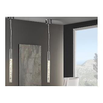 Schuller Modern Chrome Hanging Ceiling 1 Light Pendant