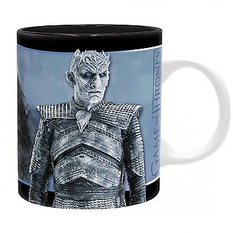 Game of Thrones cup Viserion and Night King white/black, printed, made of ceramic, F3ll quantity approx. 320 ml., in gift box.
