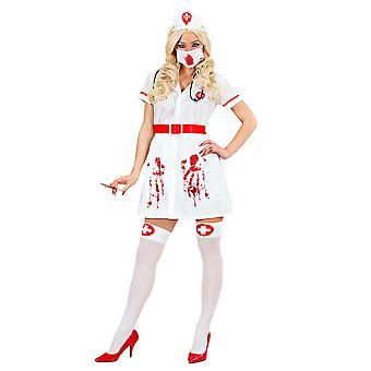 Geïnfecteerde Bloody Nurse (jurk riem hoed masker Steth)