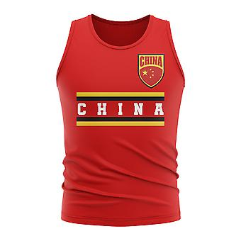 China core Football land mouwloos Tee (rood)
