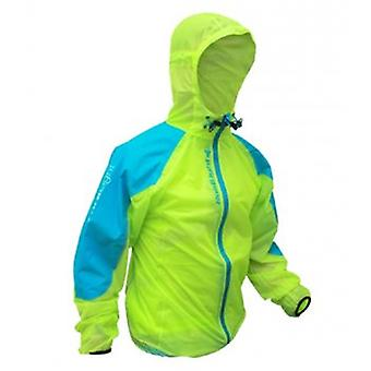 Raidlight Top Ultralight Waterproof Jacket Lime Green/electric Blue Mens
