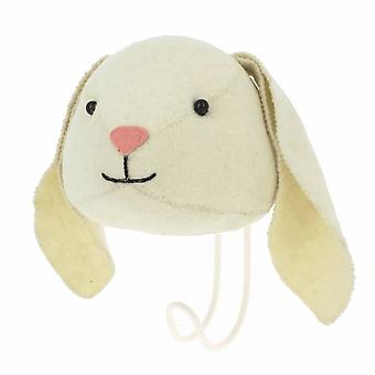 Fiona Walker England Floppy Ear Bunny Felt Animal Head Coat Hook