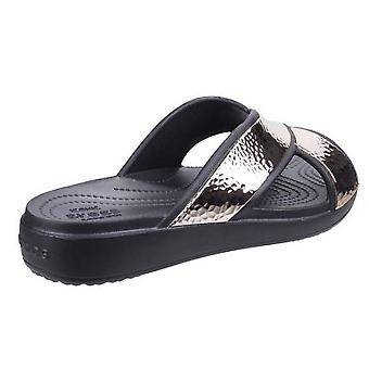 Crocs Womens/Ladies Sloane Hammered Xstrap Sliders