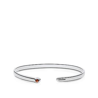 Syracuse University Engraved Sterling Silver Citrine Cuff Bracelet