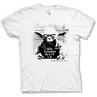 Herren T-Shirt - Yoda Verbrecherfoto - Star Wars - Lustiges