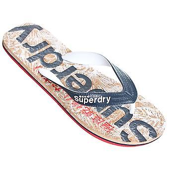 Superdry Printed Cork Flip Flops Navy/rouge