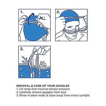 Zoggs natação óculos Júnior com proteção UV em azul/laranja/Clear-6-14yrs
