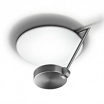1 luz médio Semi Flush luz de teto de cetim níquel