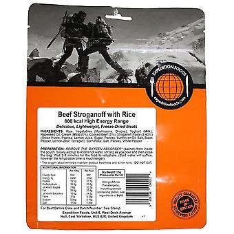 Expedition Foods Black Beef Stroganoff Avec du riz