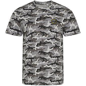 4. Dronningens egen Hussars-licenserede britiske hær broderet camouflage print T-shirt