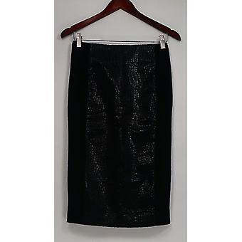 G.I.L.I. got it love it Skirt Printed Faux Leather Pencil Black A280971 #1