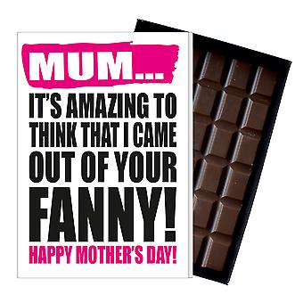 Funny Mother's Day Gift Boxed Chocolate Present Rude Greeting Card For Mom Mum Mumy MIYF106