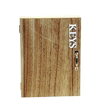 Schlüsselkasten Holz natur/weiß H27 cm