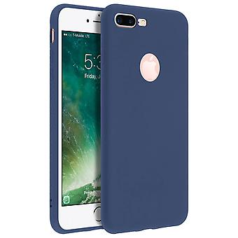 Forcell case for iPhone 7 Plus, 8 Plus, soft touch cover, silicone case - Blue